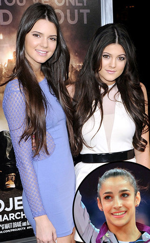 Kylie Jenner, Kendall Jenner, Aly Raisman