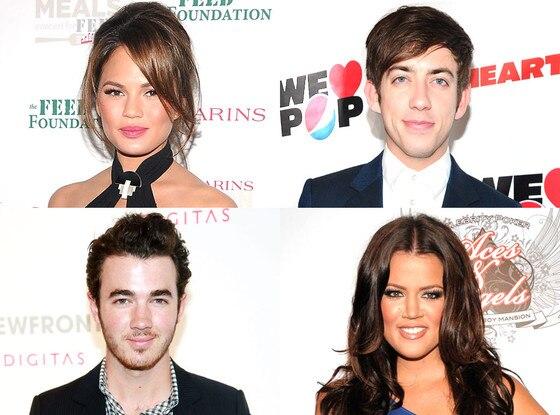 Kevin Jonas, Khloe Kardashian Odom, Kevin McHale, Chrissy Teigan