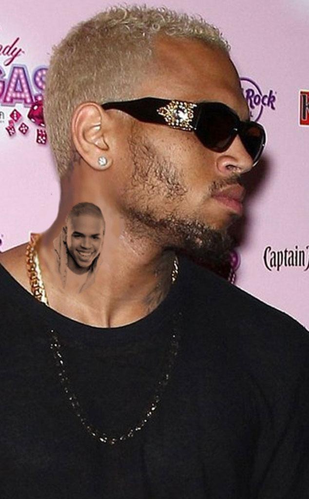 Chris Brown, Neck Tattoo, Meme