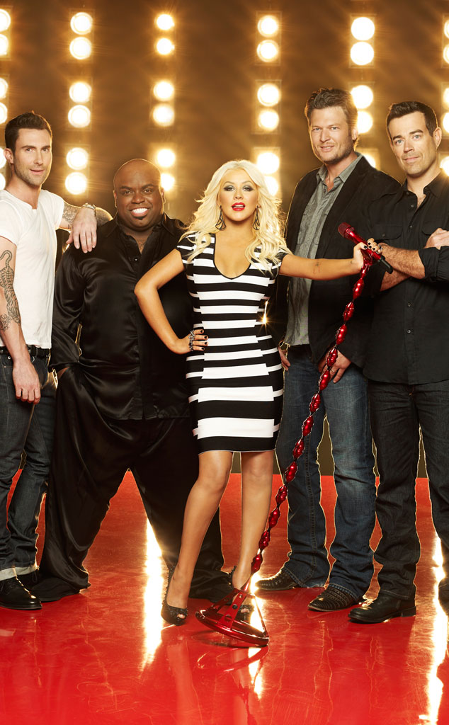 THE VOICE, Adam Levine, CeeLo Green, Christina Aguilera, Blake Shelton, Carson Daly