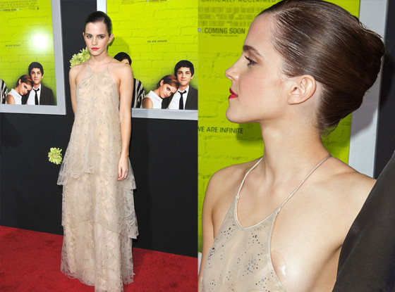 Image result for Emma Watson nip slip at the premiere of Perks of Being a Wallflower