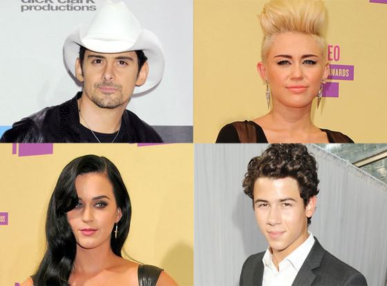 Miley Cyrus, Brad Paisley, Katy Perry, Nick Jonas
