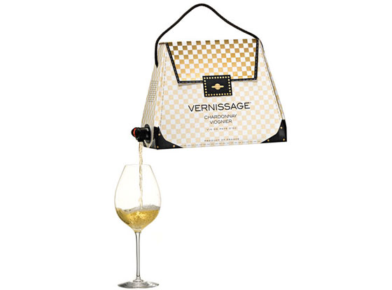 Vernissage, wine box, bag