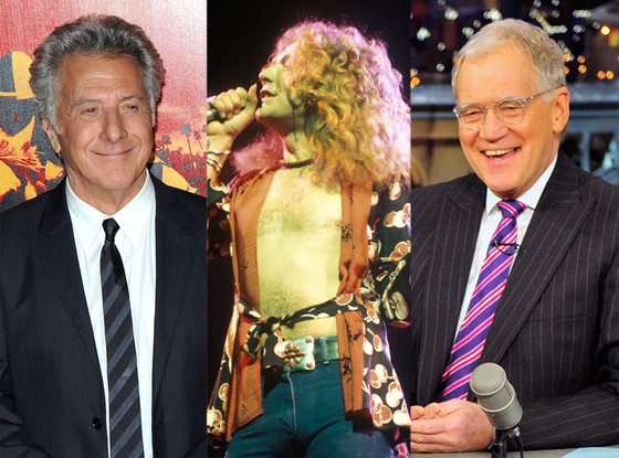 Dustin Hoffman, Robert Plant Led Zeppelin, David Letterman