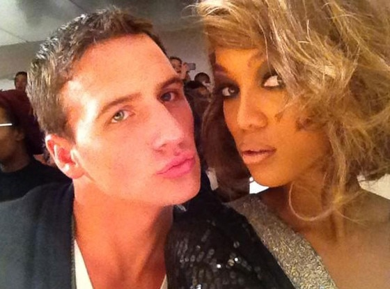 Ryan Lochte, Tyra Banks, Twit Pic