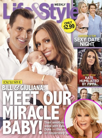 Joan Rivers, Life and Style, Bill Rancic, Giuliana Rancic, Edward Duke Rancic