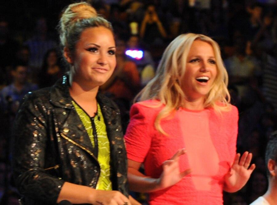 Britney Spears, Demi Lovato, X Factor