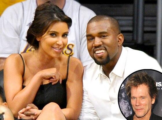 Kim Kardashian, Kanye West, Kevin Bacon