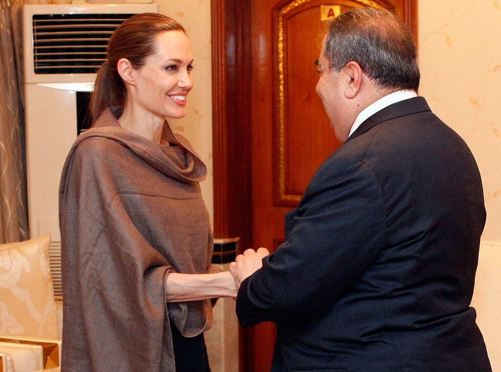 Angelina Jolie, Foreign Minister Hoshyar Zebari
