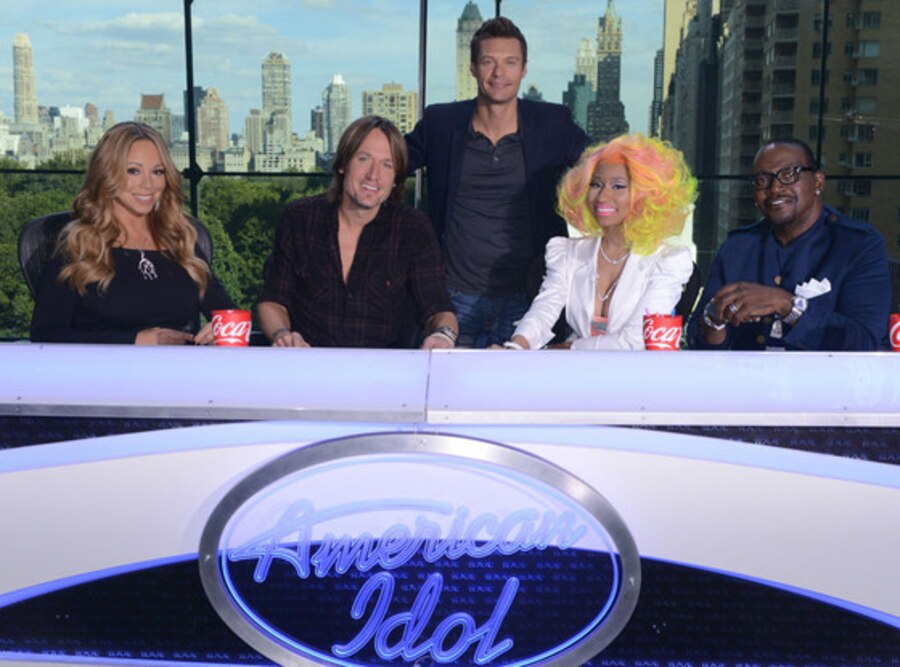 Mariah Carey, Keith Urban, Ryan Seacrest, Nicki Minaj, Randy Jackson, American Idol 12