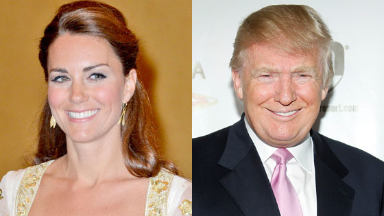 Kate Middleton, Donald Trump