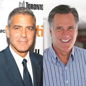George Clooney, Mitt Romney