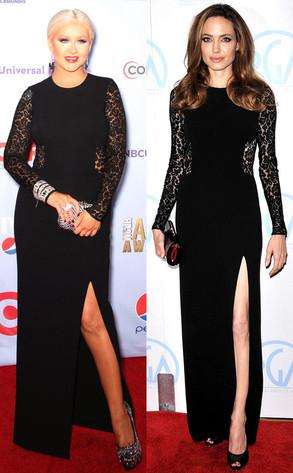 Christina Aguilera, Angelina Jolie