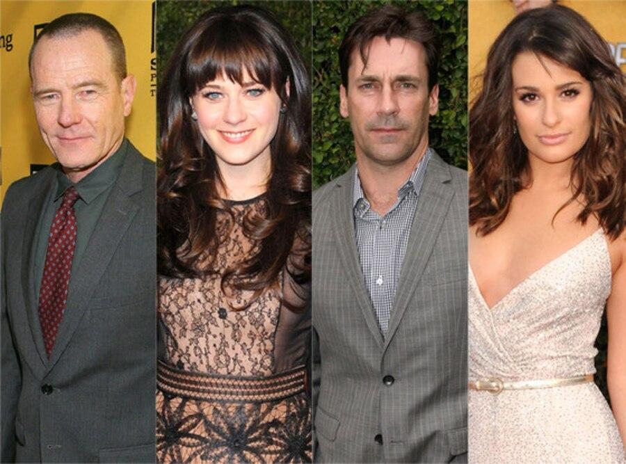 Zooey Deschanel, Lea Michele, Jon Hamm, Bryan Cranston