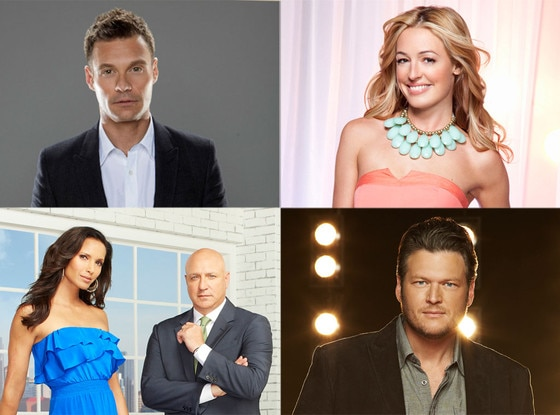 Blake Shelton, The Voice, Cat Deeley, So You Think You Can Dance, Ryan Seacrest, American Idol, Padma, Top Chef