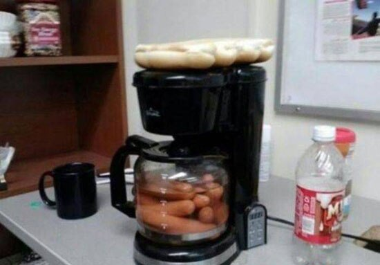 Soup Coffee Maker Hotdogs X2