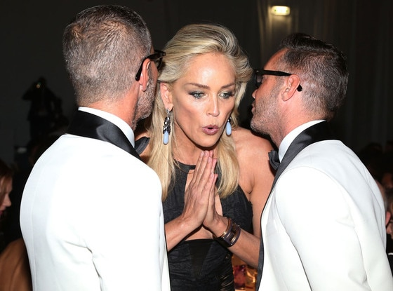 Dean Caten, Sharon Stone, Dan Caten