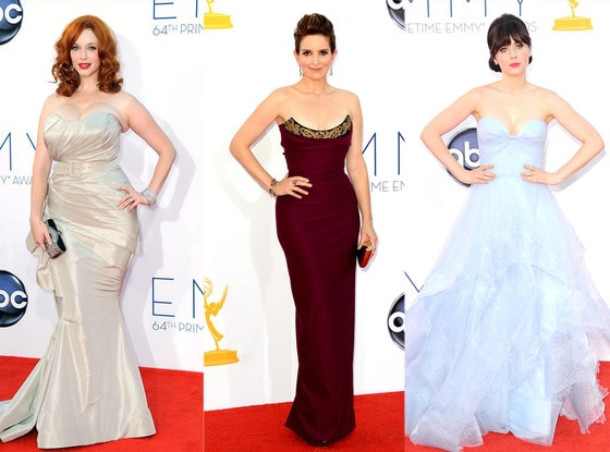 Christina Hendricks, Tina Fey, Zooey Deschanel