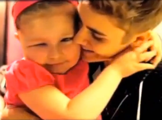 Avalanna Routh, Justin Bieber, Video Grab