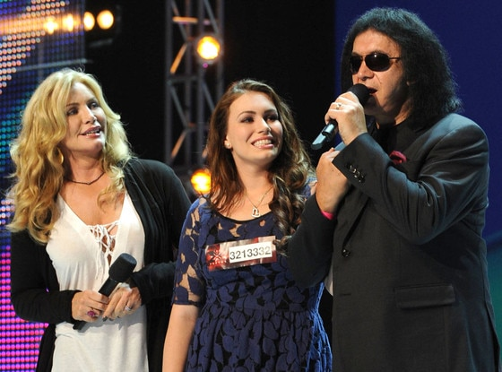 THE X FACTOR, Sophie Simmons, Shannon Tweed, Gene Simmons