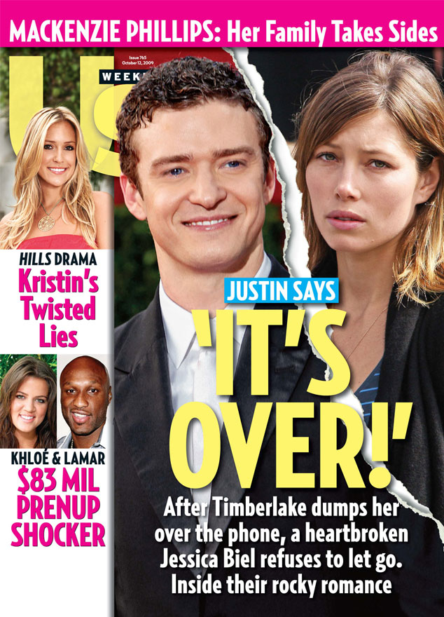 Justin Timberlake, Jessica Biel, Us Weekly, Cover