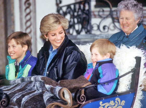 Prince William, Princess Diana, Prince Harry, Olga Powell