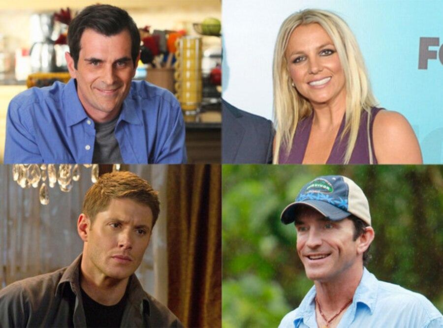 Ty Burrell, Modern Family, Jensen Ackles, Supernatural, Britney Spears, The X Factor, Jeff Probst, Survivor