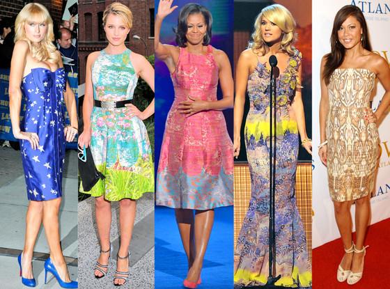 Carrie Underwood, Dianna Agron, Michelle Obama, Paris Hilton, Vanessa Minnilo
