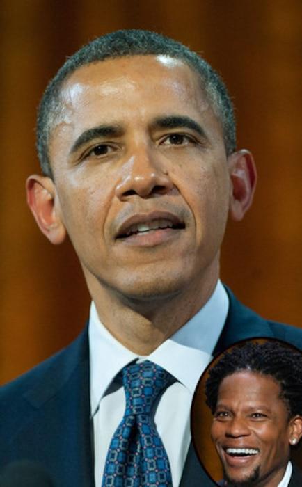 President Barack Obama, D.L. Hughley