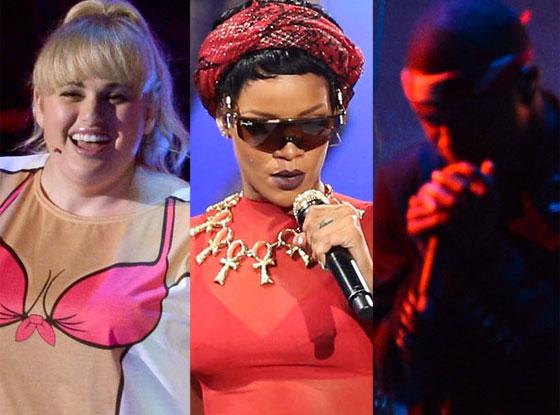 Rebel Wilson, Rihanna, Frank Ocean, MTV Video Music Awards 2012