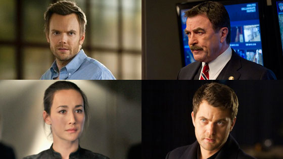 Joel McHale, Community Maggie Q, Nikita Joshua Jackson, Fringe Tom Selleck, Blue Bloods, DVR Deathmatch