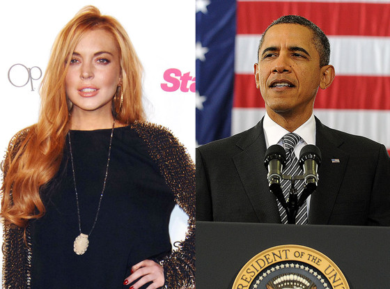Lindsay Lohan, Barack Obama