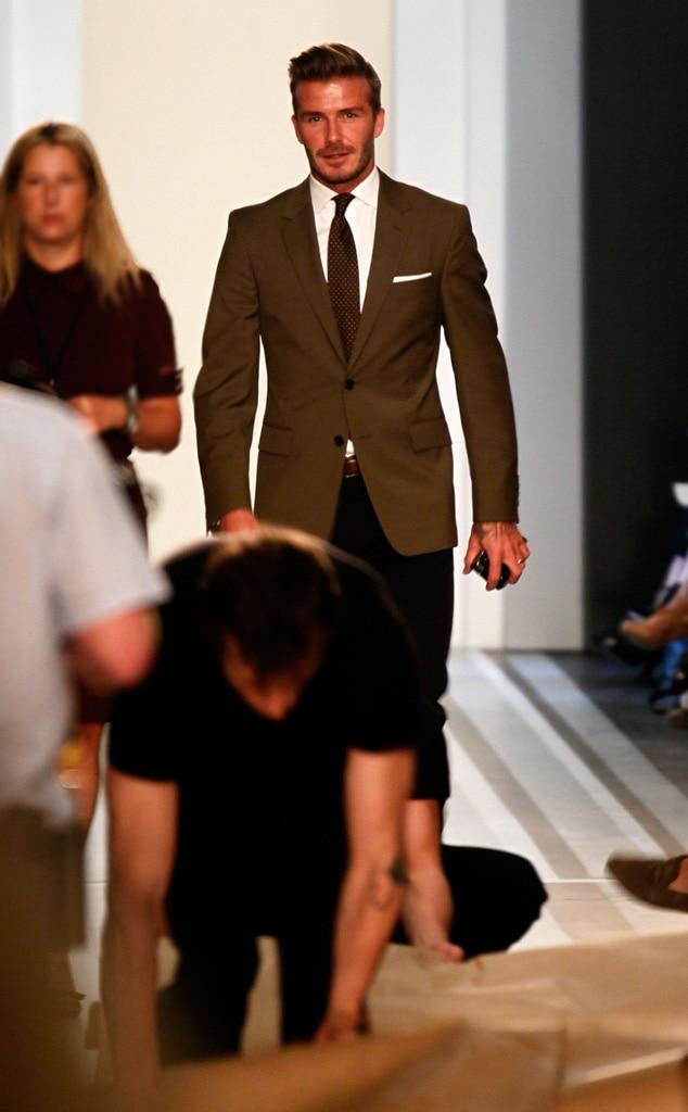 David Beckham From Fashion Week Spring 2013 E News