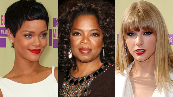 Rihanna, Oprah, Taylor Swift