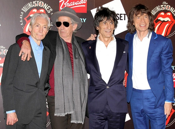 Charlie Watts, Keith Richards, Ronnie Wood, Mick Jagger,  The Rolling Stones