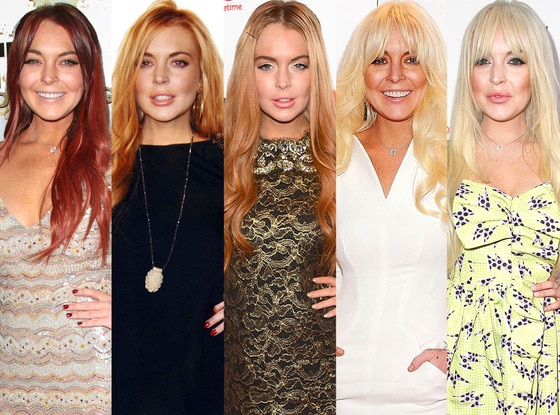 Lindsay Lohan Hair Color by Color
