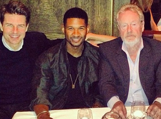 Usher, Tom Cruise