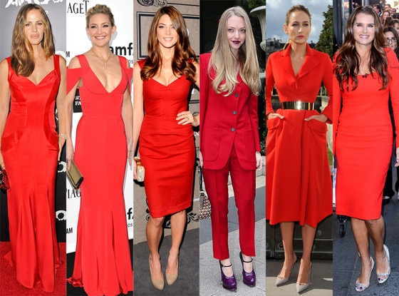 Ladies in Red, Jennifer Garner, Kate Hudson, Amanda Seyfried, Ashley Greene, Leelee Sobieski, Brooke Shields