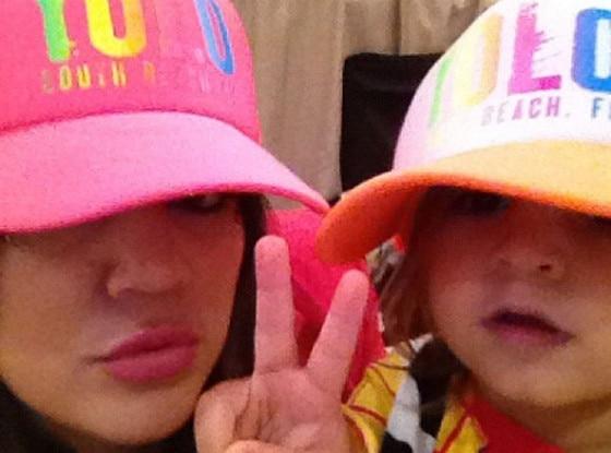 Khloe Kardashian Odom, Mason, Twit Pic