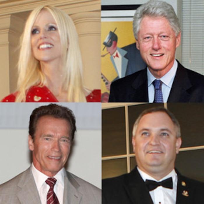 Michaele Salahi, Tareq Salahi, Arnold Schwarzenegger, Bill Clinton