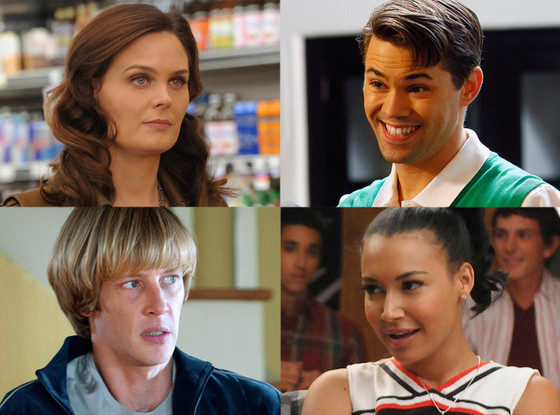 Naya Rivera, Glee Andrew Rannels, New Normal Gabriel Mann, Revenge Emily Deschanel, Bones