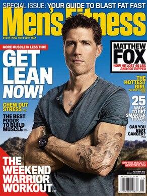 Matthew Fox, Men's Fitness Magazine