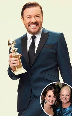 Ricky Gervais, Tina Fey, Amy Poehler