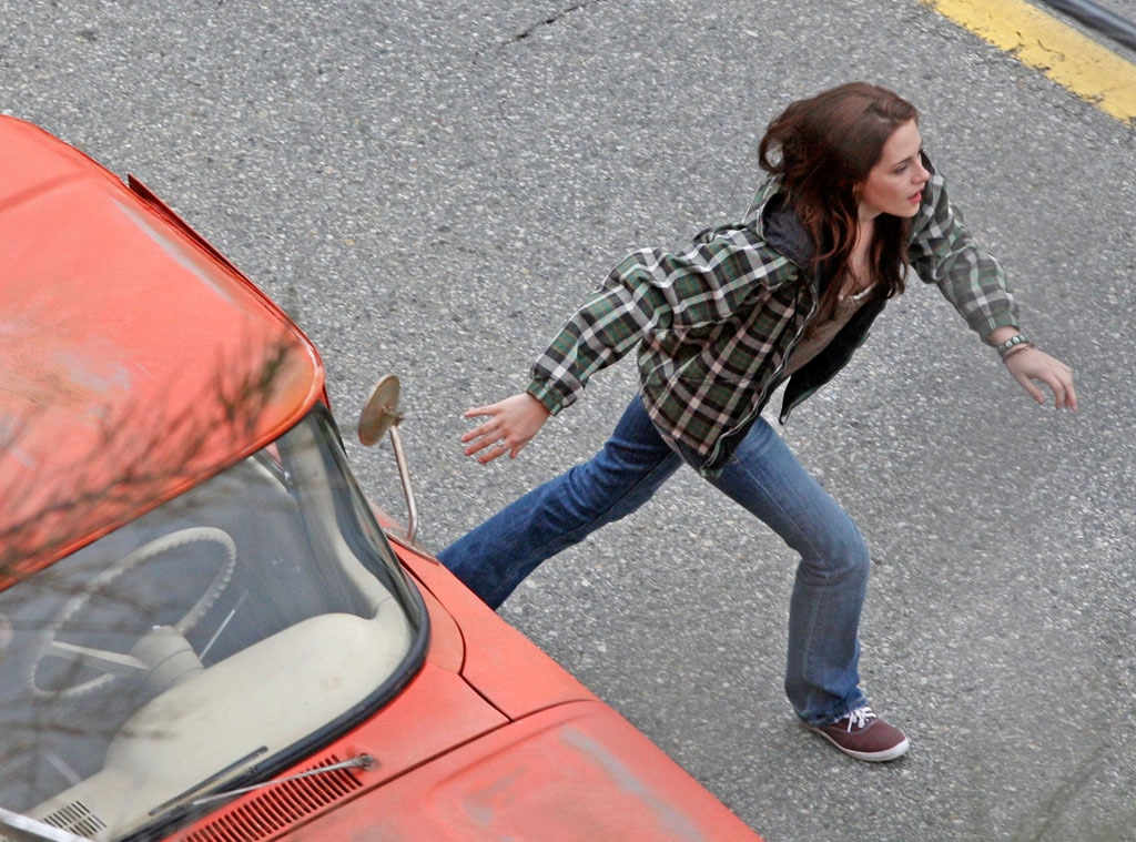 Kristen Stewart, New Moon set