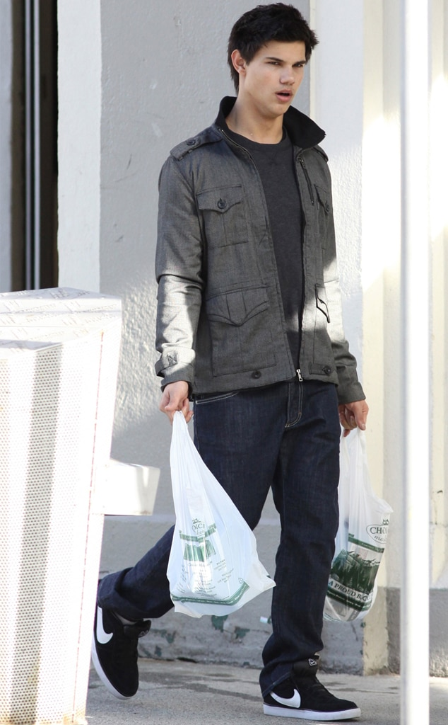 Taylor Lautner, New Moon set