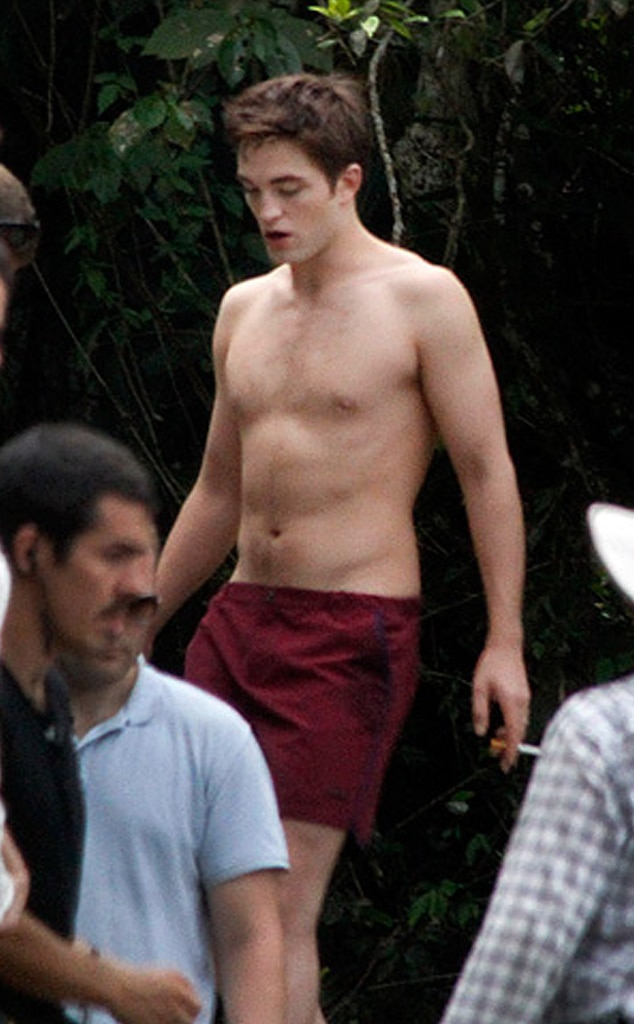 Robert Pattinson, Kristen Stewart, Breaking Dawn set