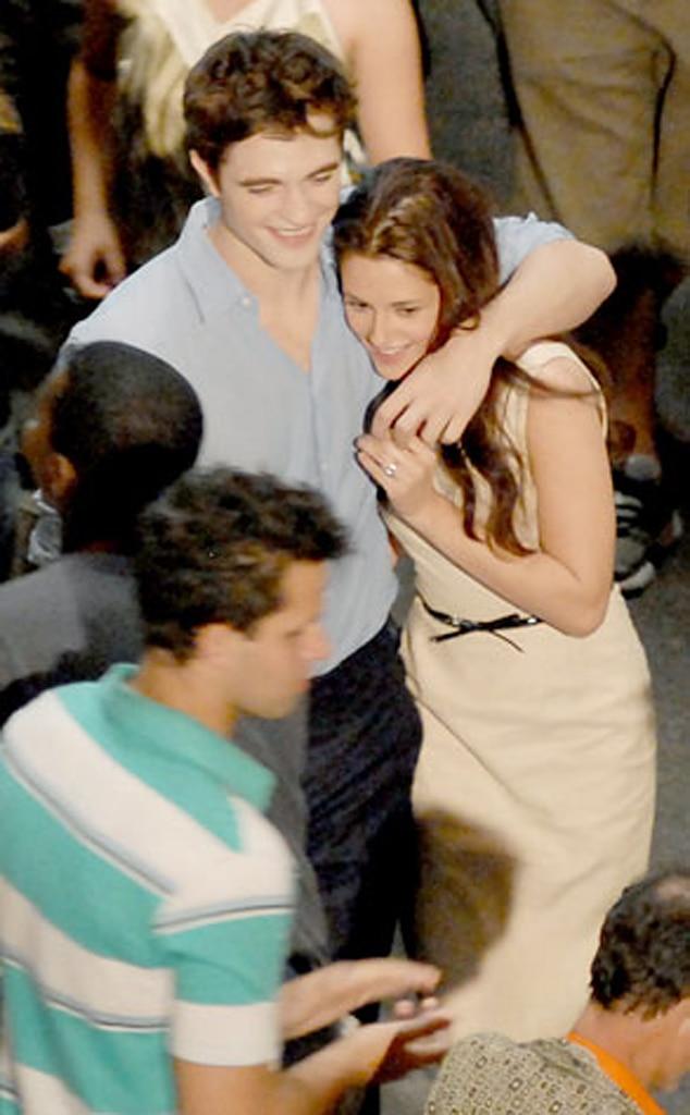 Kristen Stewart, Robert Pattinson, Breaking Dawn Set
