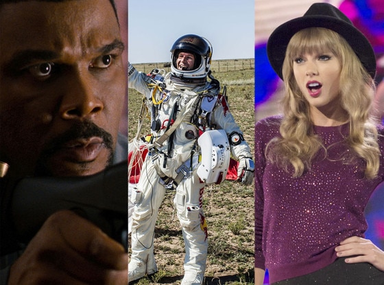 Tyler Perry, Felix Baumgartner, Taylor Swift