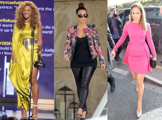 Beyonce, Kim Kardashian, Jennifer Lopez