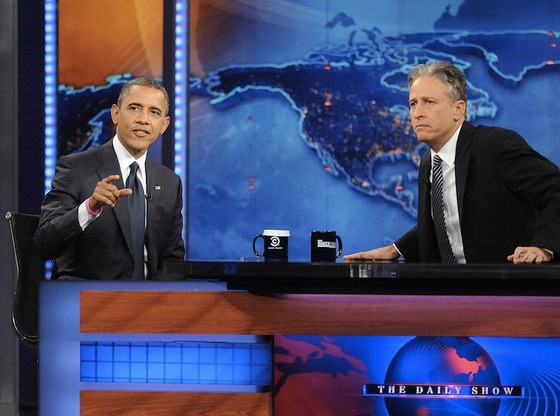 Barack Obama, Jon Stewart, The Daily Show